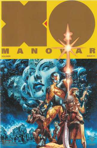 X-O Manowar #1 La Rosa Variant Gold Valiant 2017 Star Wars Homage