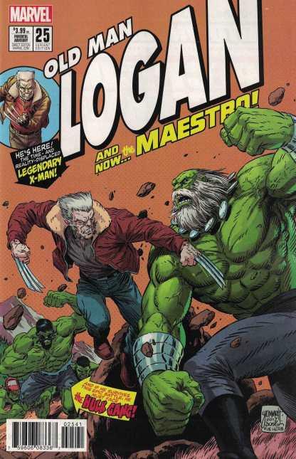 Old Man Logan #25 1:10 Tom Grummett Hulk Homage Variant Marvel 2015