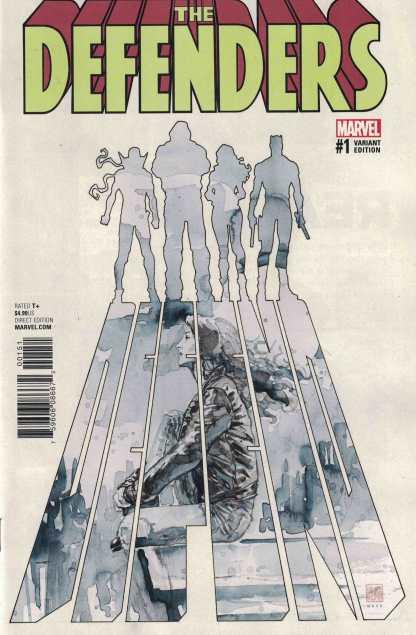 Defenders #1 1:25 David Mack Variant Marvel 2017 Iron Fist Luke Cage Daredevil