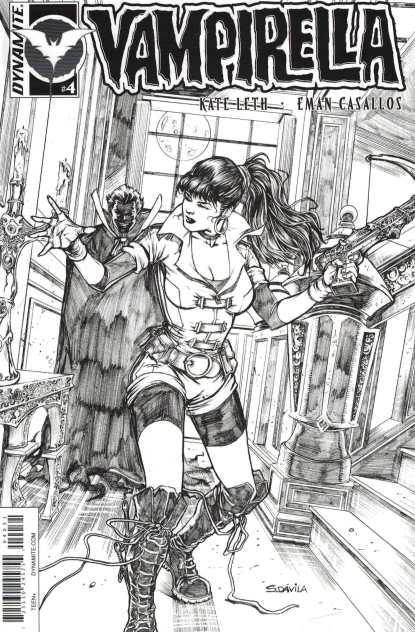 Vampirella Vol 3 #4 1:10 Davila Black and White Sketch Variant Dynamite 2016
