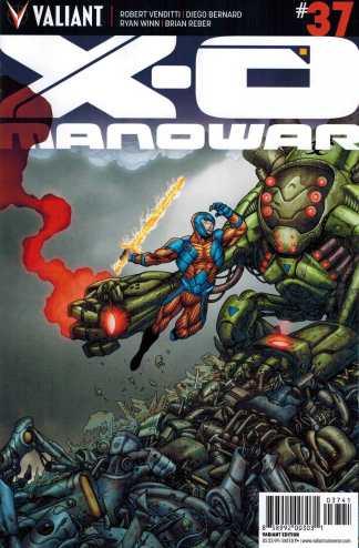 X-O Manowar #37 1:20 Francis Portella Variant Valiant 2012