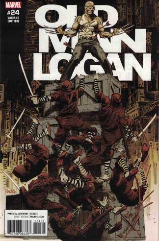 Old Man Logan #24 1:25 Dan Panosian Variant Marvel 2015 Past Lives