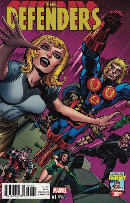 Defenders #1 1:10 Jack Kirby Variant Marvel 2017 100th Anniversary