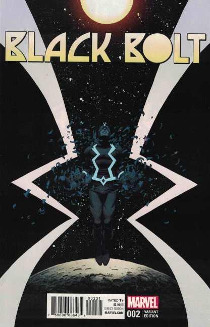 Black Bolt #2 1:25 Declan Shalvey Variant Marvel 2017 Inhumans
