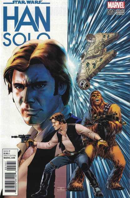 Star Wars Han Solo #1 1:50 John Cassaday Color Variant Marvel 2016
