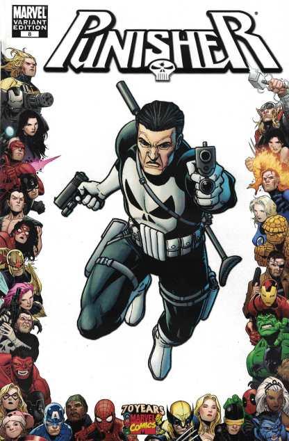 Punisher #8 1:10 Steve Dillon Marvel 70th Anniversary Frame Variant 2009