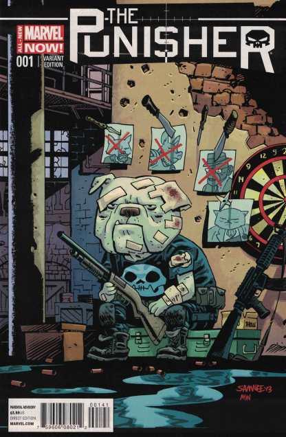 Punisher #1 Chris Samnee Animal Variant Marvel ANMN 2014 Edmondson