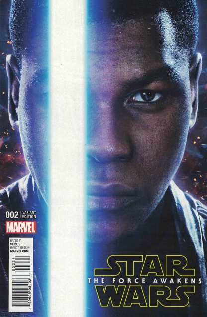Star Wars Force Awakens Adaptation #2 1:10 Finn Photo Movie Variant Marvel 2017