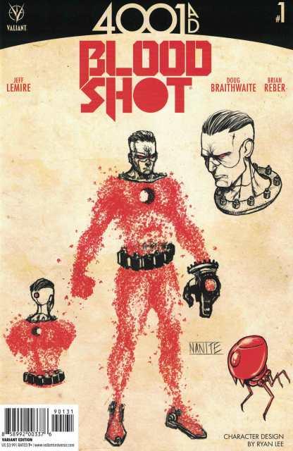 4001 AD Bloodshot #1 1:10 Lee Character Design Variant Cover C Valiant 2016