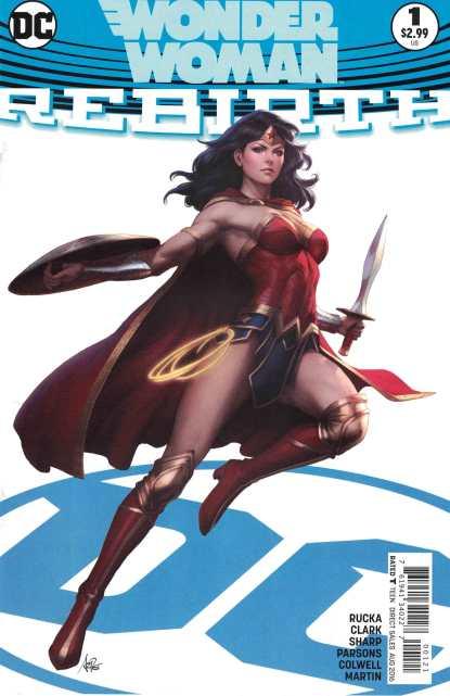 Wonder Woman Rebirth #1 Artgerm Stanley Lau Variant DC 2016 Greg Rucka Sharp