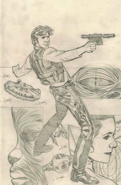 Star Wars Rebel Heist #1 1:40 Adam Hughes Sketch Variant Dark Horse 2014 RARE