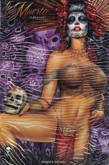 La Muerta Descent #1 Naugthy Edition Variant Coffin Comics 2016 Polybagged