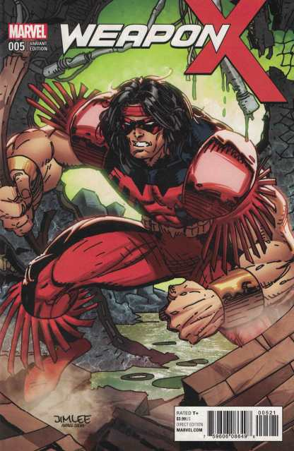 Weapon X #5 Jim Lee X-Men Trading Card Variant Marvel 2017 Thunderbird