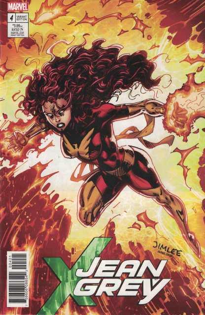 Jean Grey #4 Jim Lee X-Men Trading Card Variant Marvel 2017 Dark Phoenix