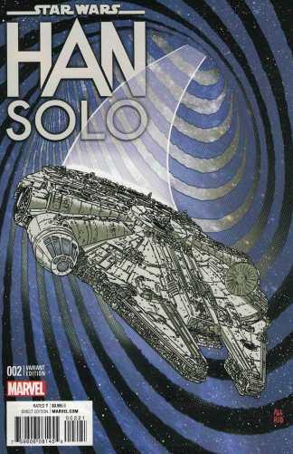 Star Wars Han Solo #2 1:10 Mike Allred Millennium Falcon Variant Marvel 2016
