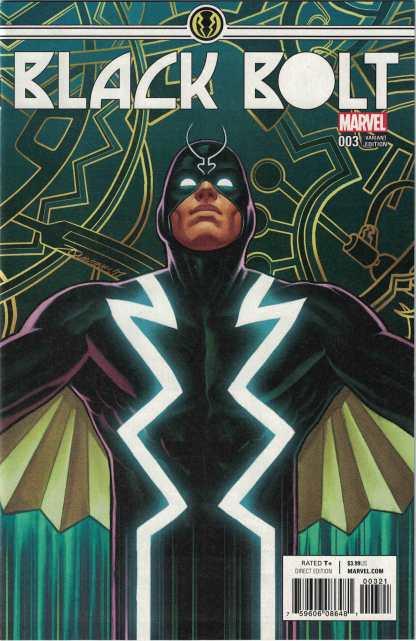 Black Bolt #3 1:25 Joe Quinones Variant Marvel 2017