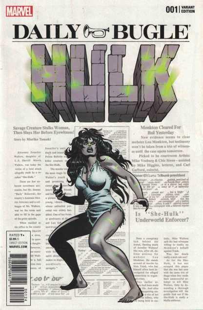 Hulk #1 Mike Vosburg Variant One Per Store Marvel 2017 Grey She-Hulk VF/NM-