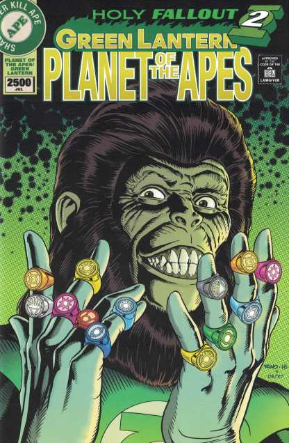 Planet of the Apes Green Lantern #6 1:20 Paul Rivoche Variant DC 2016