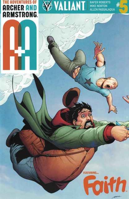 A&A Adventures Archer & Armstrong #5 1:10 Perez Interlock Variant Valiant Faith