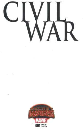 Civil War #1 Blank Sketch Variant Marvel Secret Wars 2015