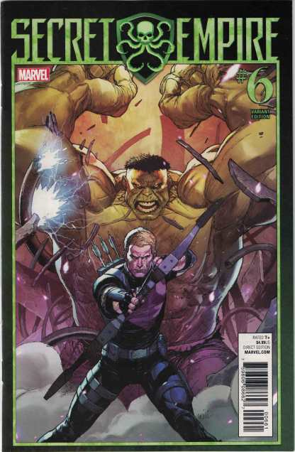 Secret Empire #6 1:25 Leinil Francis Yu Variant Marvel 2017