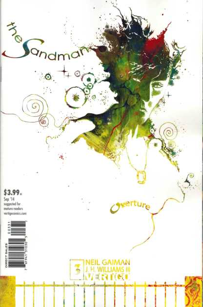 Sandman Overture #3 1:100 JH Williams III Special Ink Variant