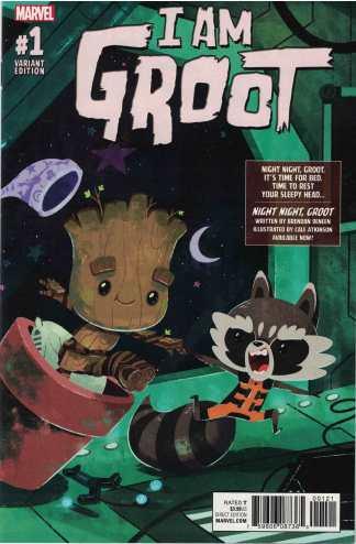 I Am Groot #1 1:10 Night Night Groot Variant Marvel 2017