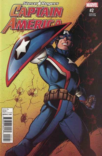Captain America Steve Rogers #2 1:25 Bagley Variant Marvel ANAD 2016 Hydra