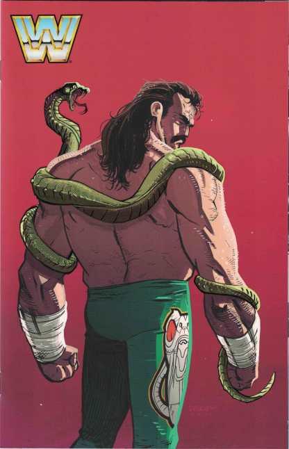 WWE #6 1:30 Dylan Burnett Jake 'The Snake' Roberts Variant Boom! Studios 2017