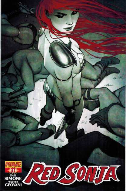 Red Sonja #11 1:15 Black and White Jenny Frison Cover