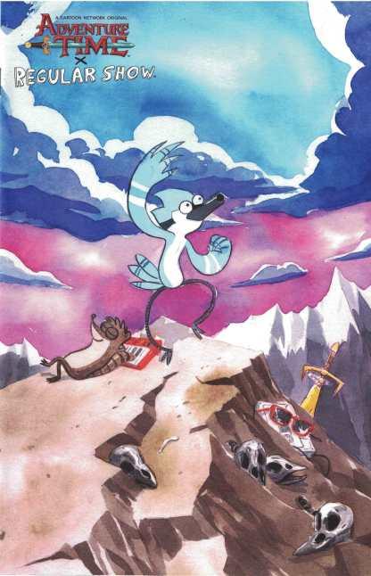 Adventure Time Regular Show #1 1:10 Dustin Nguyen Homage Variant Boom! 2017
