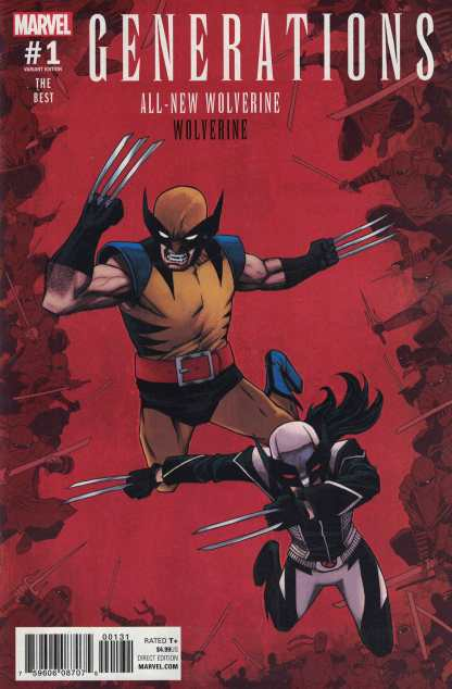 Generations #1 All-New Wolverine & Wolverine 1:25 Shalvey Variant Marvel 2017