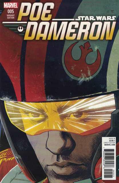 Star Wars Poe Dameron #5 1:25 Stewart Variant Marvel 2016 TFA