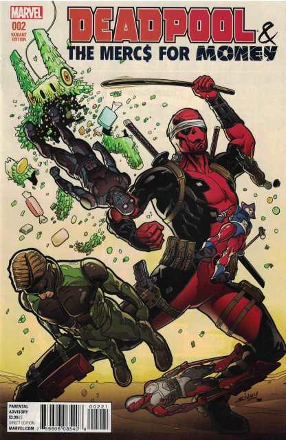 Deadpool & Mercs For Money #2 1:25 Will Sliney Variant Marvel 2016 ANAD