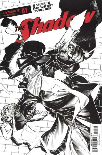 Shadow #1 1:20 Peterson B&W Variant Cover G Dynamite 2017