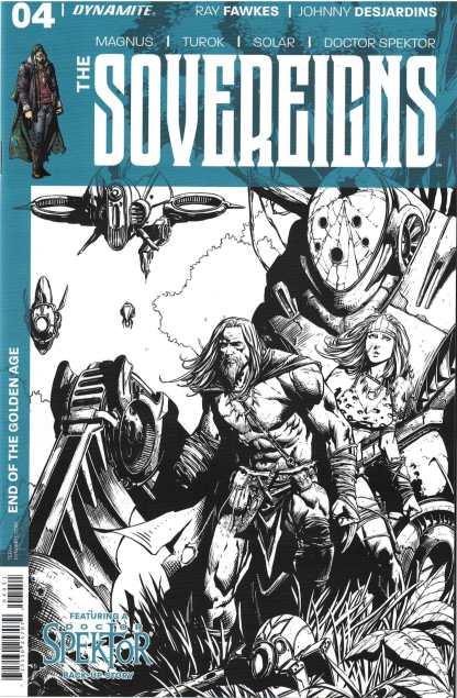 Sovereigns #4 1:10 Johnny Desjardins B&W Variant Dynamite 2017