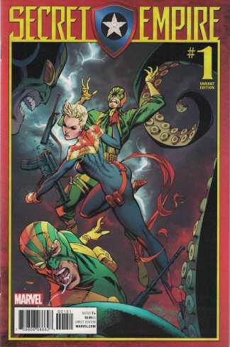 Secret Empire #1 1:50 J Scott Campbell Variant Captain Marvel 2017