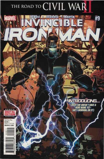 Invincible Iron Man #9 1st Print Marvel 2016 1st Full Riri Williams