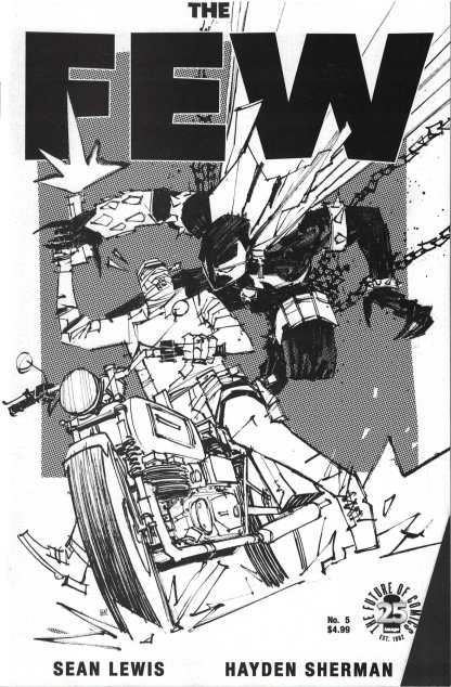 The Few #5 Cover C Hayden Sherman Variant Spawn Month B&W Variant Image 2017