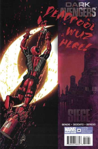 Dark Avengers #14 1:15 Mike Deodato Jr Deadpool Variant Marvel 2010