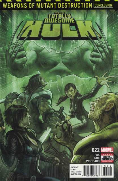 Totally Awesome Hulk #22 First Print Marvel Weapon H Rare