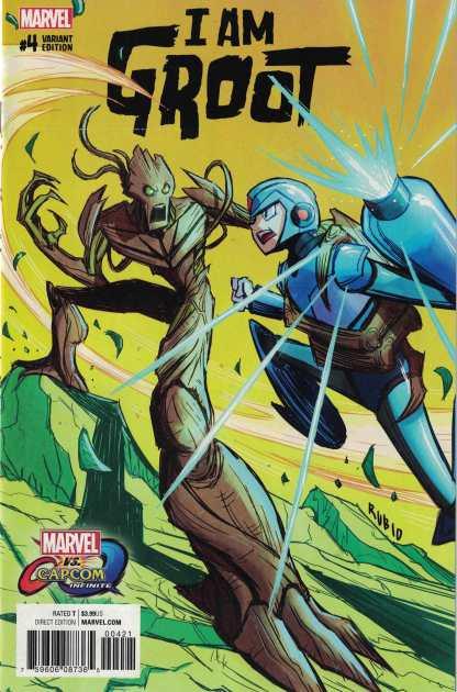 I Am Groot #4 Rubio Marvel Vs Capcom Megaman Variant Marvel 2017