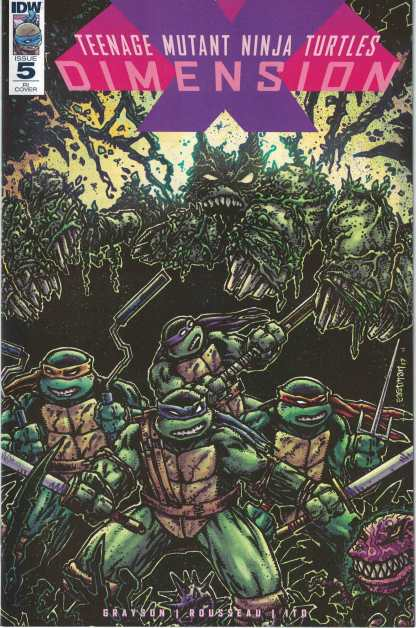 TMNT Dimension X #5 1:10 Kevin Eastman Retailer Incentive Variant IDW 2017