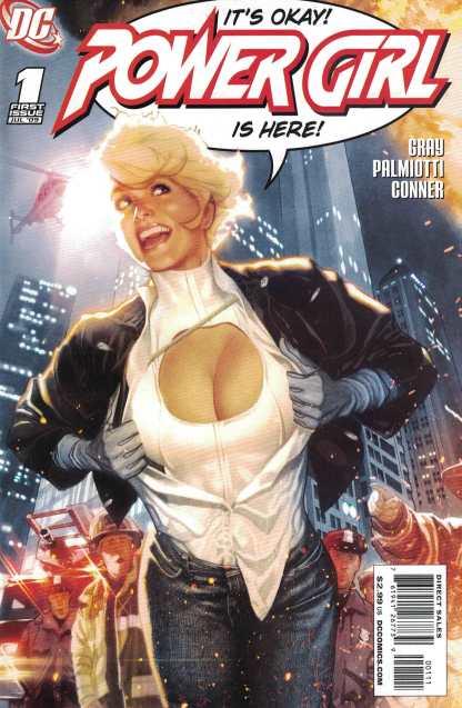 Power Girl #1 Adam Hughes Variant Cover DC Comics 2009 Rare HTF
