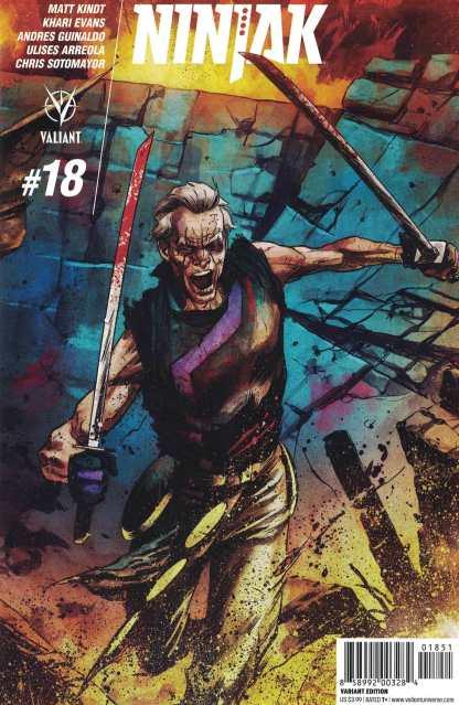 Ninjak #18 1:20 Adam Gorham Interlocking Variant Cover E Valiant 2015