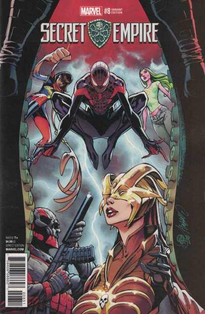Secret Empire #8 1:50 J Scott Campbell Variant Marvel 2017 Morales Spider-Man