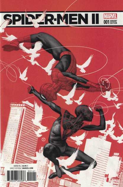 Spider-Men II #1 1:50 JT Tedesco Variant Marvel 2017 Miles Morales Spider-Man