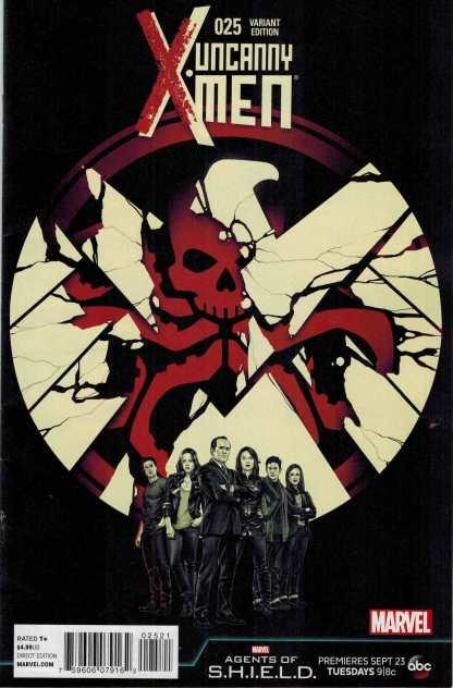 Uncanny X-Men #25 1:10 Agents of Shield Variant