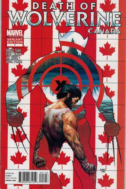 Death of Wolverine #1 Steve McNiven Canada Variant Marvel 2014