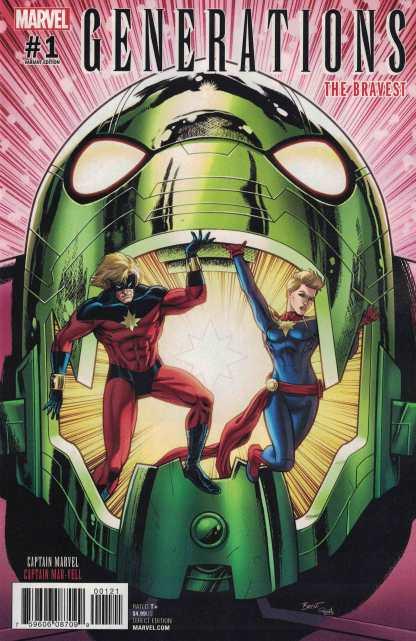 Generations Captain Marvel #1 1:25 Schoonover Variant Marvel Mar-vell